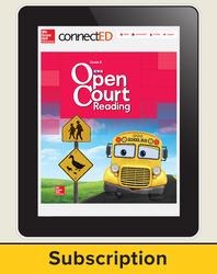 Open Court Reading Grade K Teacher License, 6-year subscription