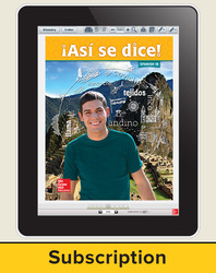 Asi se dice! Level 1B, Student Learning Center, 1-year Subscription