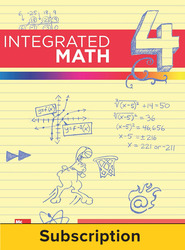 Integrated Math, Course 4, Student Bundle, 1-year Subscription
