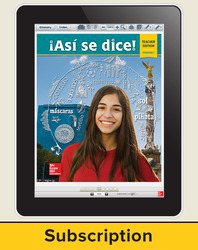 Asi se dice! Level 1, Teacher Lesson Center, 1-year subscription
