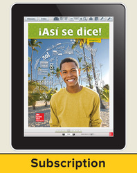 Asi se dice! Level 3, Student Learning Center, 1-year Subscription