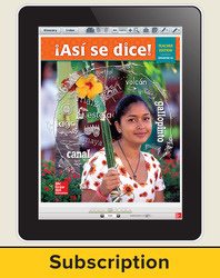 Asi se dice! Level 1A, Teacher Lesson Center, 6-year subscription