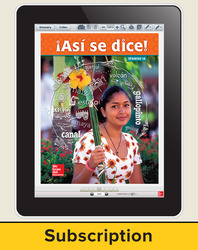 Asi se dice! Level 1A, Student Learning Center, 1-year Subscription