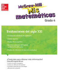 MH My Math 21st Century Assessment Grade 4 Spanish