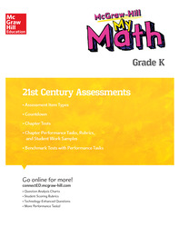 MH My Math 21st Century Assessment Grade K
