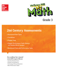 MH My Math 21st Century Assessment Grade 3