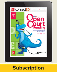 Open Court Reading Foundational Skills Kit Teacher License, 1-year subscription Grade K