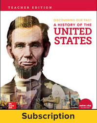 Discovering Our Past: A History of the United States, Teacher Lesson Center, 1-year subscription