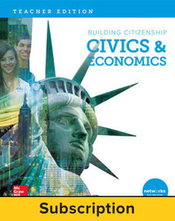 Building Citizenship: Civics & Economics, Teacher Lesson Center, 1-year subscription