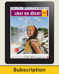 Asi se dice! Level 4, Teacher Lesson Center, 1-year subscription