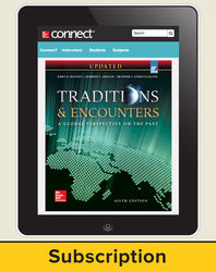 Bentley, Traditions & Encounters: A Global Perspective on the Past UPDATED AP Edition © 2017, 6e, Connect®, 6-Year Subscription