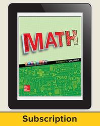 Glencoe Math 2016, Course 2 eStudentEdition, 1-year subscription