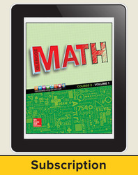 Glencoe Math 2016, Course 2 eTeacherEdition, 1-year subscription