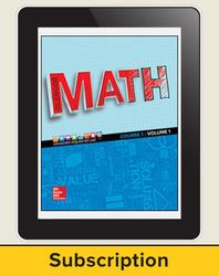 Glencoe Math 2016, Course 1 eTeacherEdition, 1-year subscription