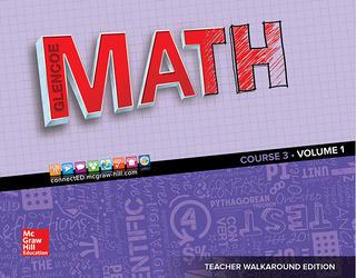 Glencoe Math 2016, Course 3 Teacher Edition, Volume 1