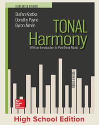 Kostka, Tonal Harmony © 2018, 8e, Student Edition, Reinforced Binding