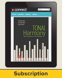 Kostka, Tonal Harmony, 2018, 8e, Connect, 1-year subscription