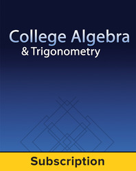 Miller, College Algebra and Trigonometry © 2017 1e, ConnectED eBook, 1-year subscription