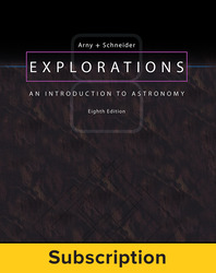 Arny, Explorations: An Introduction to Astronomy © 2017, 8e, ConnectED eBook, 1-year subscription
