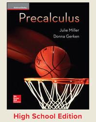 Miller, Precalculus © 2017, 1e, Student Edition, Reinforced Binding