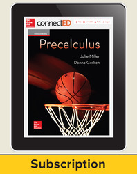 Miller, Precalculus © 2017, 1e, ConnectED eBook, 6-year subscription