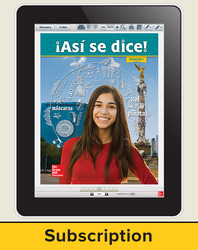 Asi se dice! Level 1, Student Learning Center, 1-year Subscription