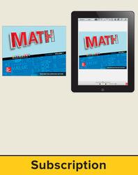 Glencoe Math 2016 Course 1, Complete Teacher Bundle, 1-year subscription