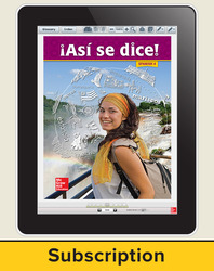 Asi se dice! Level 4, Student Learning Center, 6-year Subscription