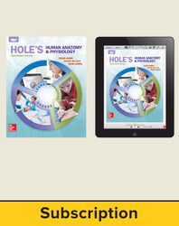Shier, Hole's Human Anatomy and Physiology © 2016, 14e, Student Bundle (Student Edition with ConnectED eBook), 6-year subscription