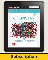 Chang, Chemistry © 2016, 12e, Connect® Plus, 1-year subscription
