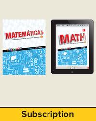 Glencoe Math Course 1, 1-year Complete Spanish Student Bundle (1 year print SE, 1 year ESE)