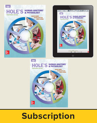 Shier, Hole's Human Anatomy and Physiology © 2016, 14e, Deluxe Student Bundle (Student Edition with ConnectED eBook, Lab Manual), 6-year subscription