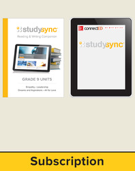 StudySync ELA Grade 9, Student/Reading & Writing Companion Bundle, 1 year
