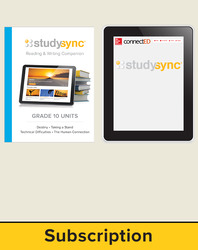 StudySync ELA Grade 10, Student/Reading & Writing Companion Bundle, 6 year