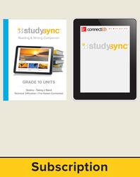 StudySync ELA Grade 10, Student/Reading & Writing Companion Bundle, 6 year