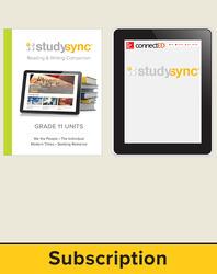 StudySync ELA Grade 11, Student/Reading & Writing Companion Bundle, 1 year