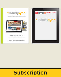 StudySync ELA Grade 11, Student/Reading & Writing Companion Bundle, 6 year