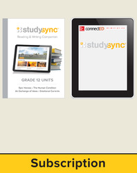 StudySync ELA Grade 12, Student/Reading & Writing Companion Bundle, 6 year