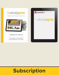 StudySync ELA Grade 6, Student/Reading & Writing Companion Bundle, 1 year