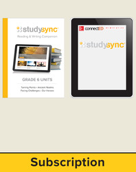 StudySync ELA Grade 6, Student/Reading & Writing Companion Bundle, 6 year