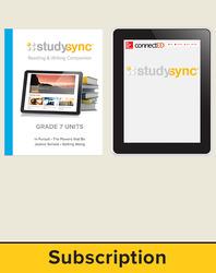 StudySync ELA Grade 7, Student/Reading & Writing Companion Bundle, 1 year