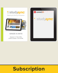 StudySync ELA Grade 8, Student/Reading & Writing Companion Bundle, 1 year