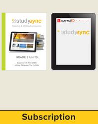 StudySync ELA Grade 8, Student/Reading & Writing Companion Bundle, 6 year