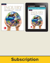 Mader, Inquiry Into Life, 2017, 15e, Standard Student Bundle (Student Edition with Connect), 1-year subscription