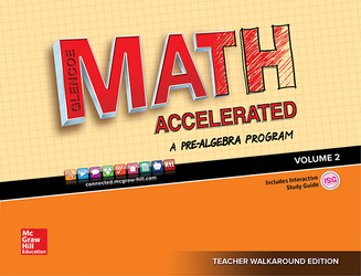 Glencoe Math Accelerated 2017, Teacher Walkaround Edition, Volume 2