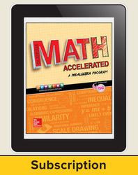 Glencoe Math Accelerated 2017, eTeacherEdition Online, 1-year subscription