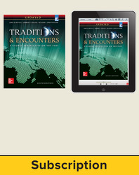 Bentley, Traditions & Encounters: A Global Perspective on the Past UPDATED AP Edition © 2017, 6e, Student Bundle, 1-Year Subscription (Student Edition with ConnectED eBook)