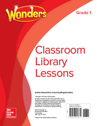 Wonders Classroom Library Lessons, Grade 1