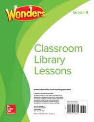 Wonders Classroom Library Lessons, Grade 4