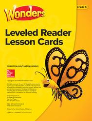 Wonders Leveled Reader Lesson Cards, Grade K